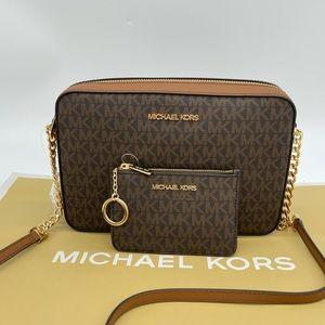 Michael Kors EW Crossbody Bag & Coinpouch wID Brown